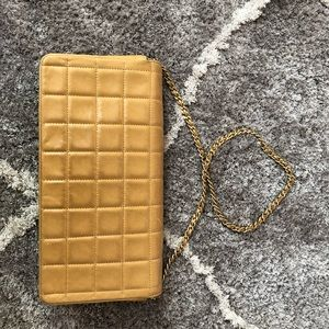 Bags - Authentic Chanel chocolate bar lamb skin bag